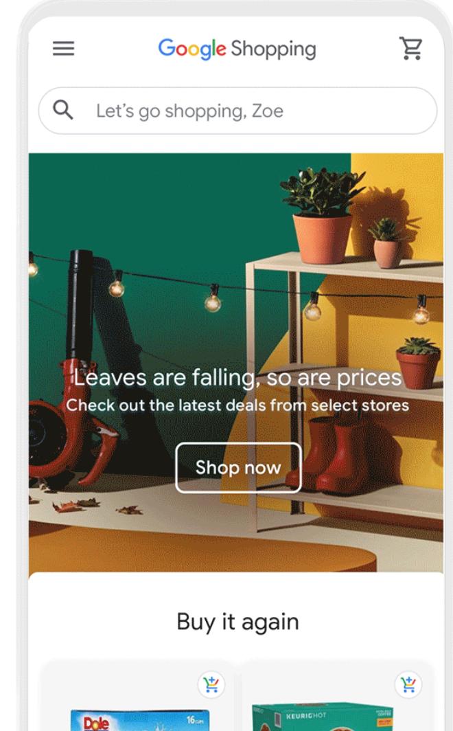 Nieuwe Google Shopping omgeving in de Verenigde Staten