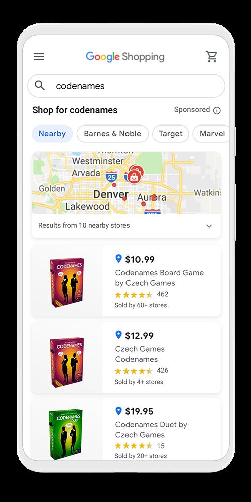 Google Shopping lokale producten vinden in nieuwe omgeving VS