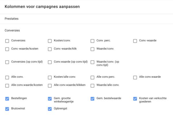 Google Shopping Campagnes Aangevuld met Winkelwagen Gegevens